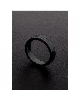 GOLDEN BLACK RIBBED C-RING (10X45MM) VIBRASHOP