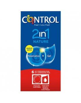 PRESERVATIVOS CONTROL 2IN1 NATURE + LUBE NATURE 6UDS VIBRASHOP