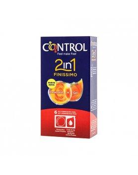 PRESERVATIVOS CONTROL 2IN1 FINISSIMO + LUBE NATURE 6UDS VIBRASHOP