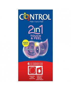 PRESERVATIVOS CONTROL 2IN1 TOUCH & FEEL + LUBE 6UDS VIBRASHOP