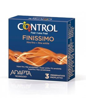 PRESERVATIVOS CONTROL FINISSIMO 3UDS VIBRASHOP