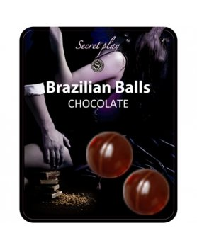 SECRET PLAY SET 2 BRAZILIAN BALLS AROMA CHOCOLATE VIBRASHOP