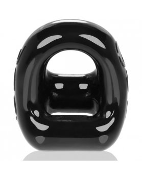 OXBALLS 360 COCKRING BALL SLING - NEGRO VIBRASHOP