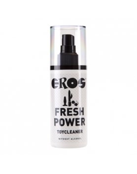 EROS FRESH POWER LIMPIADOR JUGUETES SIN ALCOHOL 125 ML VIBRASHOP