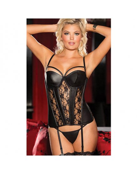 CORSET BLACK SWEET HEART NEGRO VIBRASHOP