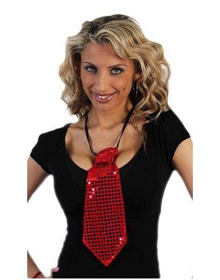 corbata de lentejuelas roja VIBRASHOP
