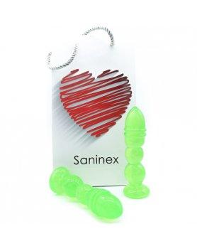 SANINEX DELIGHT - PLUG & DILDO TRANSPARENTE VERDE VIBRASHOP