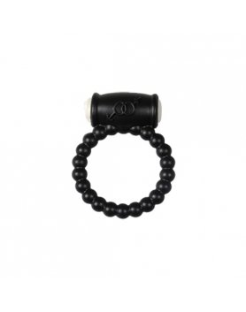 POWER RING BALLS - ANILLO VIBRADOR SILICONA NEGRO VIBRASHOP
