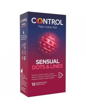 CONTROL PRESERVATIVOS SENSUAL DOTS & LINES 12 UDS VIBRASHOP