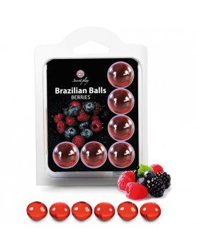 SET 6 BRAZILIAN BALLS FRUTAS DEL BOSQUE VIBRASHOP