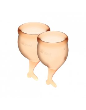 SATISFYER FEEL SECURE COPA MENSTRUAL - NARANJA VIBRASHOP