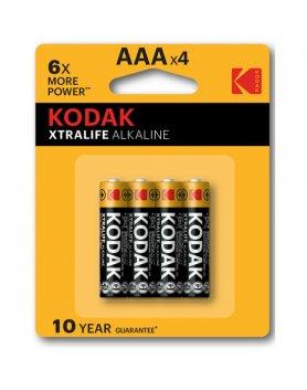 KODAK XTRALIFE ALKALINE AAA - 10 PACKS DE 4UDS VIBRASHOP