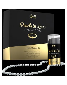 INTT PEARLS IN LOVE - GEL DE MASAJE CON COLLAR DE PERLAS VIBRASHOP