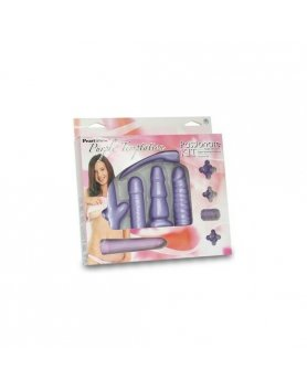KIT TEMPTATION: ANILLO, FUNDA Y VIBRADOR MORADO VIBRASHOP