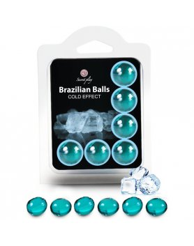SECRET PLAY SET 6 BRAZILIAN BALLS EFECTO FRIO VIBRASHOP