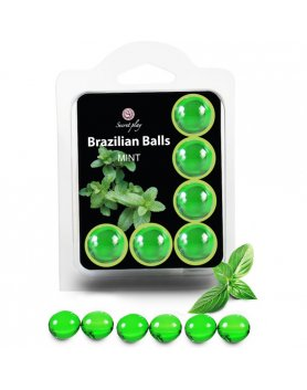 SECRET PLAY SET 6 BRAZILIAN BALLS AROMA MENTA VIBRASHOP
