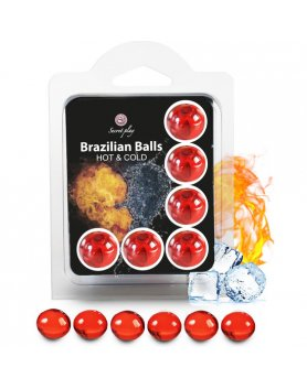 SECRET PLAY SET 6 BRAZILIAN BALLS EFECTO HOT & COLD VIBRASHOP
